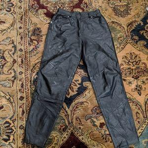 Wilson's Leather Pants Black Vintage High Waisted